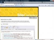 The SiteCurrency SCEditor lets users configure content on pages much as they would in a standard word processing system.